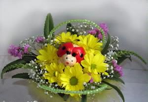 Маленькие букеты из живых цветов своими руками фото
