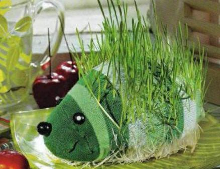 Травянчик-ежик своими руками