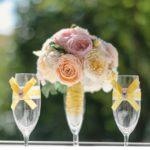 Букет невесты из шелковых цветов